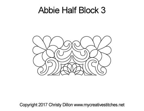 Abbie half block 3 quilting pattern