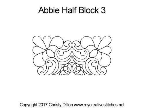 Abbie half block 3 quilting pattern
