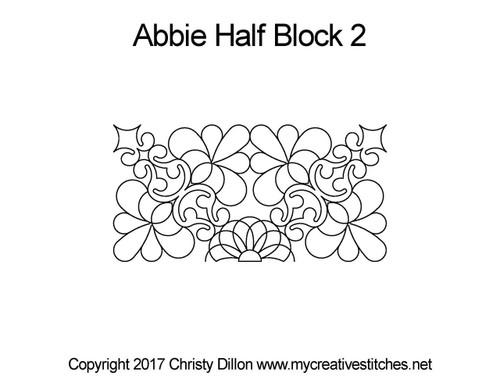 Abbie half block 2 quilting pattern
