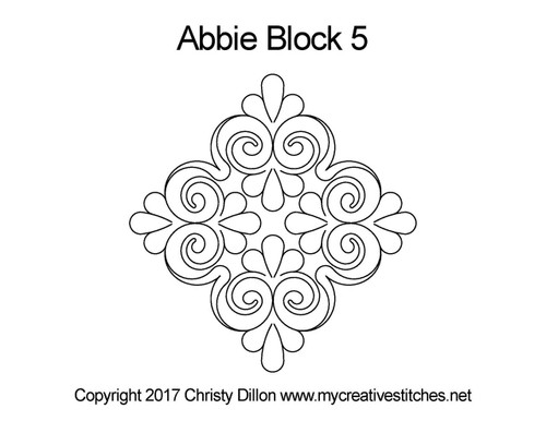 Abbie triangle block 5 quilting pattern