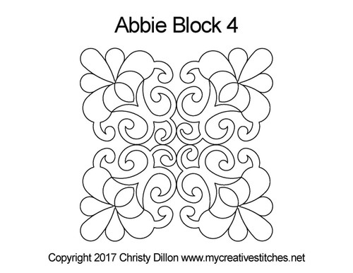 Abbie square block 4 quilt pattern