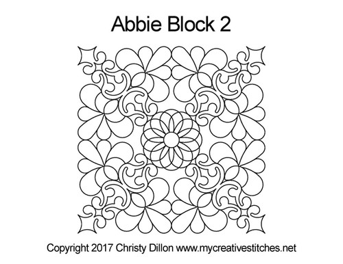 Abbie square block 2 quilt pattern