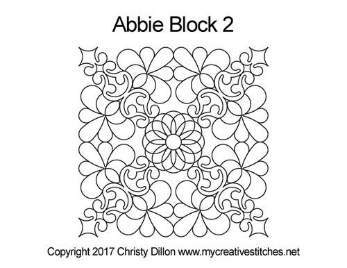 Abbie square block 2 quilt pattern