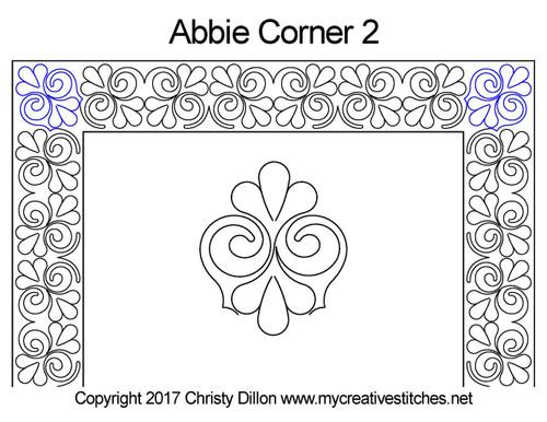 Abbie corner 2 quilt design