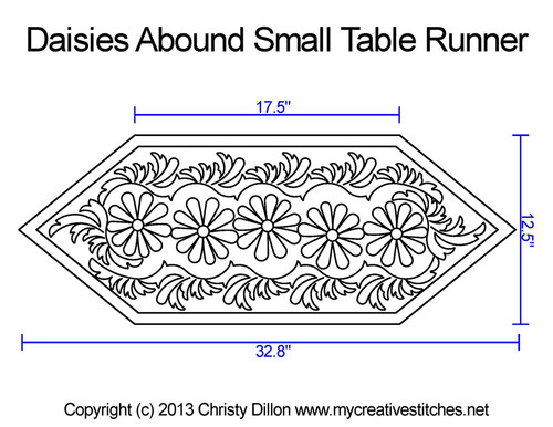 Diasies abound small table runner