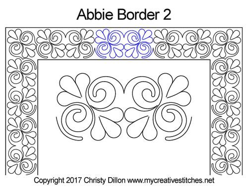 Abbie border 2 quilting