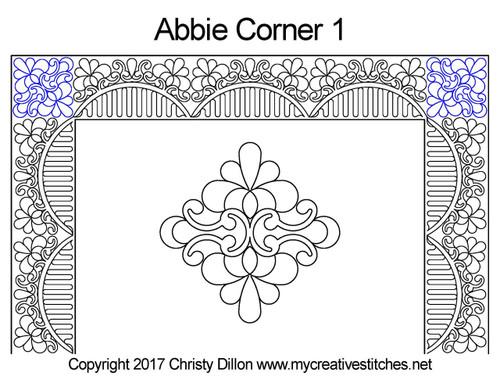 Abbie corner 1 quilting pattern