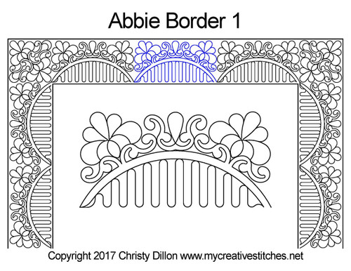 Abbie border 1 quilting pattern