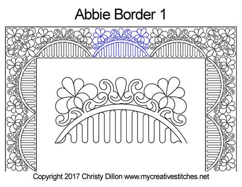 Abbie border 1 quilting pattern