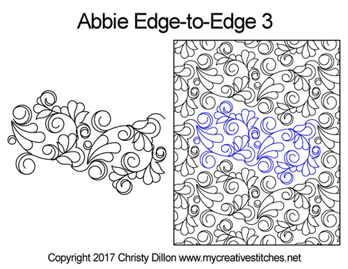 Abbie edge-to-edge quilt pattern