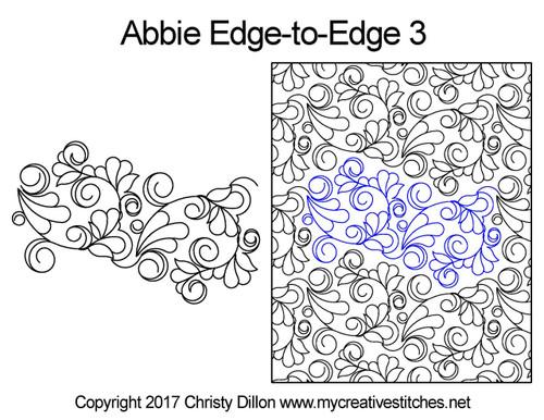 Abbie edge-to-edge quilt pattern