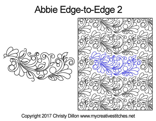 Abbie edge to edge 2 longarm quilting patterns