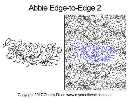 Abbie edge to edge 2 longarm quilting patterns