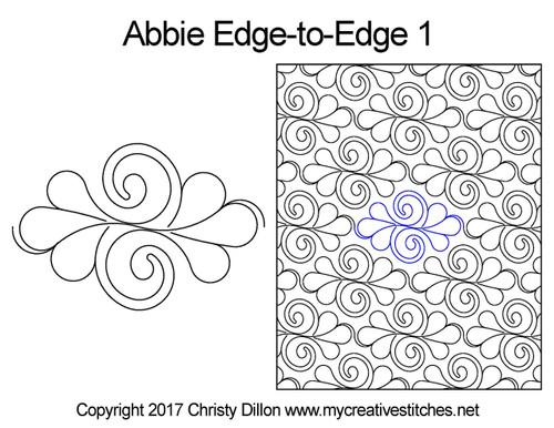 Abbie edge to edge quilt patterns