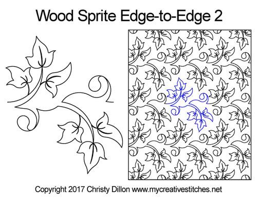 Wood sprite edge to edge 2 designs
