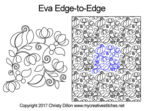 Eva edge to edge quilting patterns