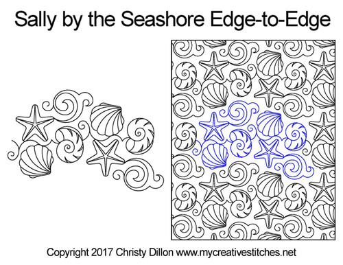 Sally by the seashore edge to edge quilting