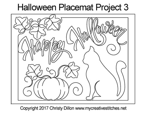 Halloween palcemat 3 free quilting projects