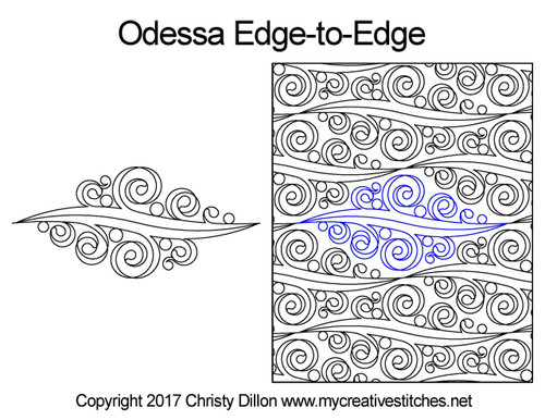 Odessa edge-to-edge quilting patterns