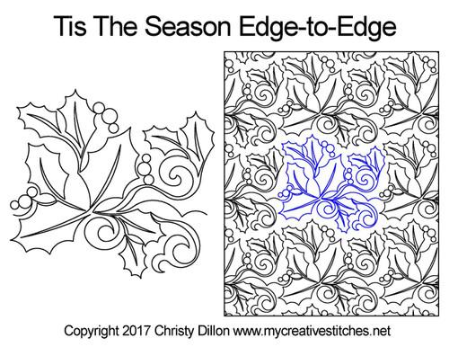 Tis the season edge to edge design