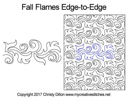 Fall Flames Edge-to-Edge
