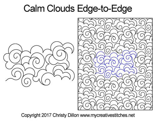 Calm clouds edge to edge designs