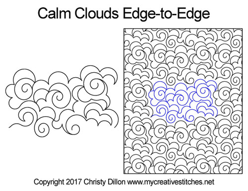 Calm clouds edge to edge designs