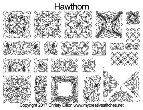 Hawthorn digital quilting ideas