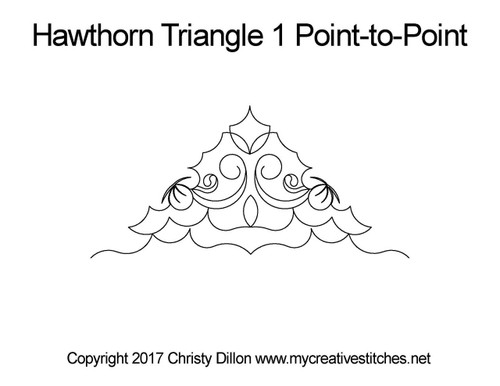 Hawthorn Triangle 1 p2p quilt pattern