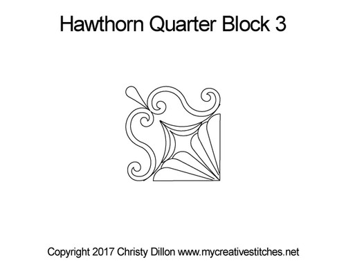 Hawthorn quarter block 3 quilt design