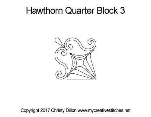 Hawthorn quarter block 3 quilt design