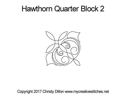 Hawthorn quarter block 2 quilt design