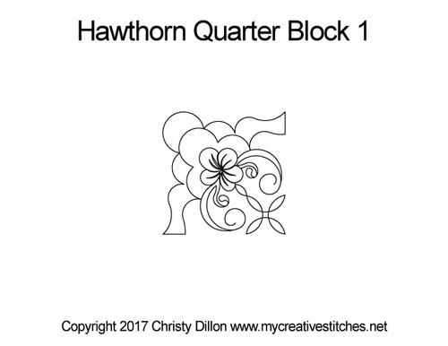 Hawthorn quarter block 1 quilt pattern
