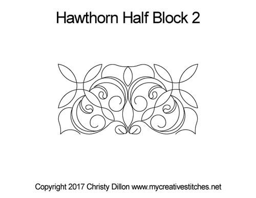Hawthorn half block 2 quilting pattern