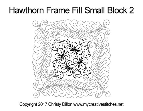 Hawthorn frame fill small block 2 quilt pattern