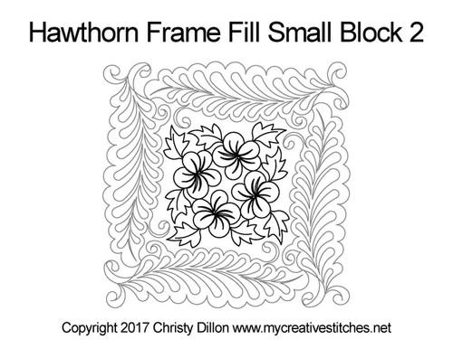 Hawthorn frame fill small block 2 quilt pattern
