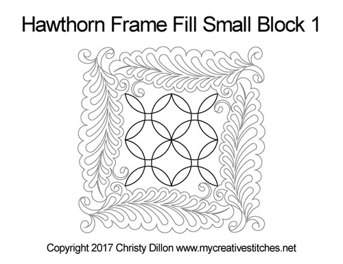Hawthorn frame fill small block 1 quilt pattern