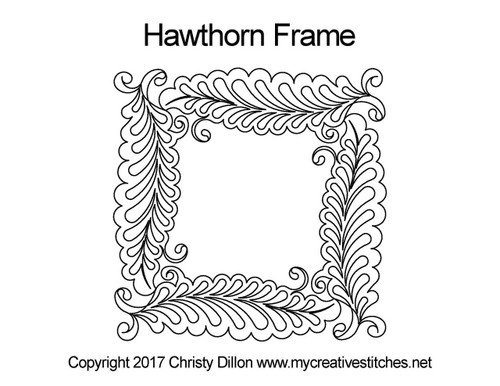 Hawthorn computerized frame quilt pattern