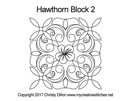 Hawthorn square block quilt pattern