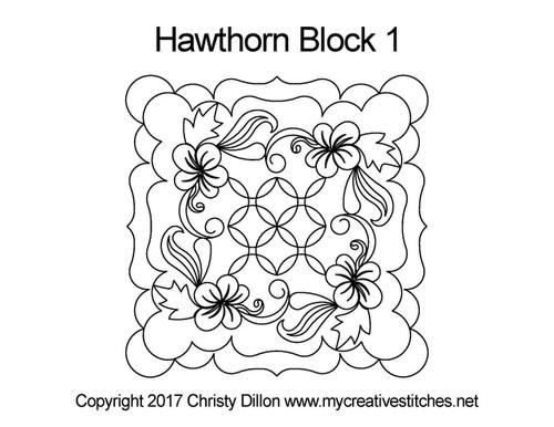 Hawthorn block quilting pattern