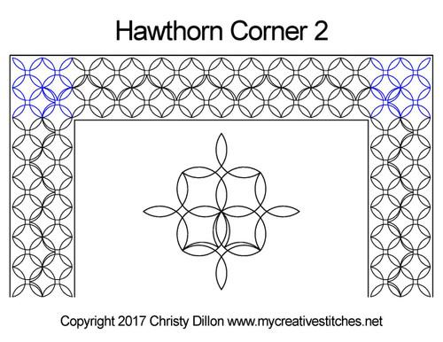 Hawthorn digitized corner 2 quilt pattern