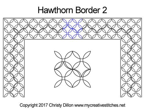 Hawthorn border 2 quilting pattern