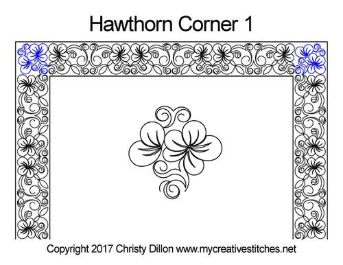 Hawthorn Corner quilting patterns