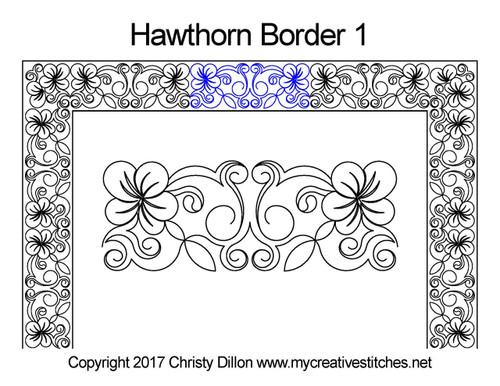 Hawthorn border quilting pattern