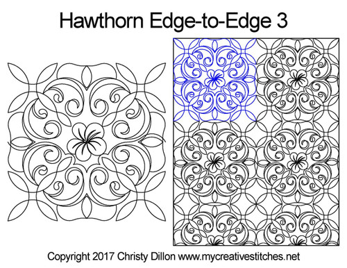 Hawthorn edge-to-edge 3 quilt designs
