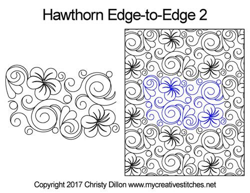 Hawthorn edge-to-edge 2 quilting pattern