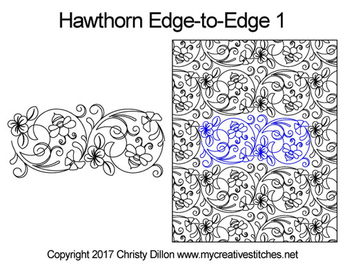 Hawthorn edge-to-edge 1 quilt designs