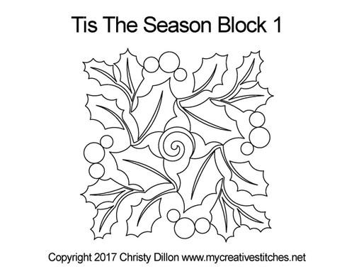 Tis the season square block 1 quilt designs