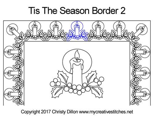 Tis the season border 2 quilting design