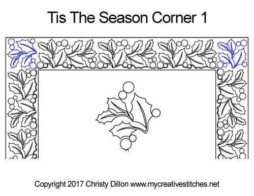Tis the season corner 1 quilting pattern